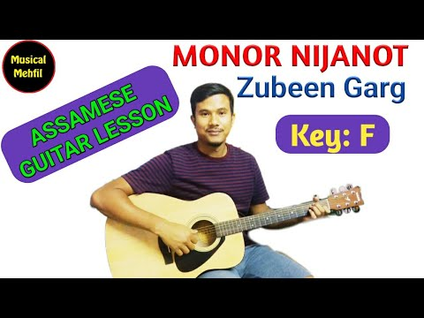 MONOR NIJANOT | GUITAR TUTOTIAL | ASSAMESE SONG | ZUBEEN GARG SONG