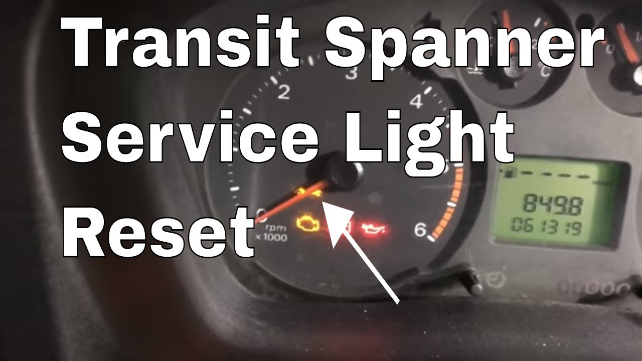 2016 Ford Transit >> How to reset a Ford transit service spanner light reset ...