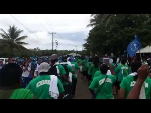 TEAM CHUUK 8th Micronesian Games Pohnpei Opening Ceremony