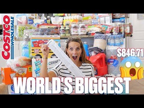 MASSIVE COSTCO BACK TO SCHOOL HAUL AT THE BIGGEST COSTCO IN THE WORLD | WORLD'S BIGGEST COSTCO HAUL