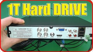 how to install hard drive in cctc dvr (Toshiba hard disk 1T)