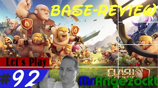 Let's Play Clash of Clans #92★ Besuche / Base-Review! ★COC [Mobil, HD, deutsch]