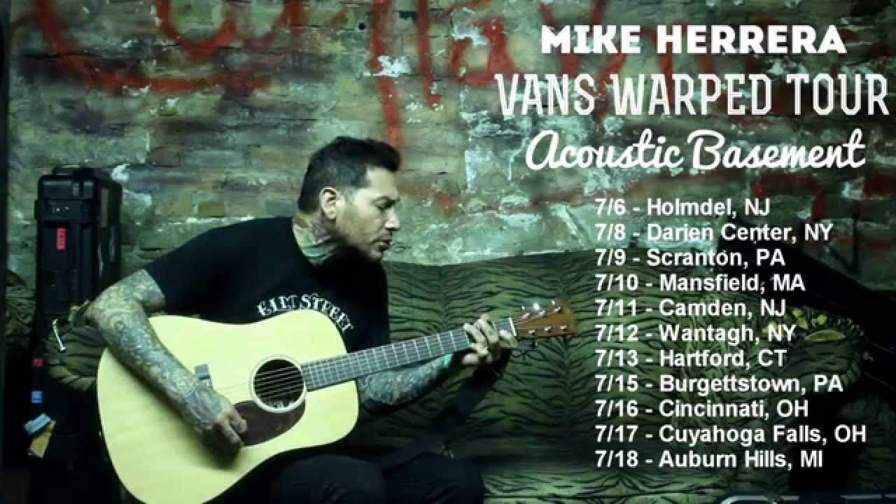 Mike Herrera   Warped Tour Acoustic Basement 2014