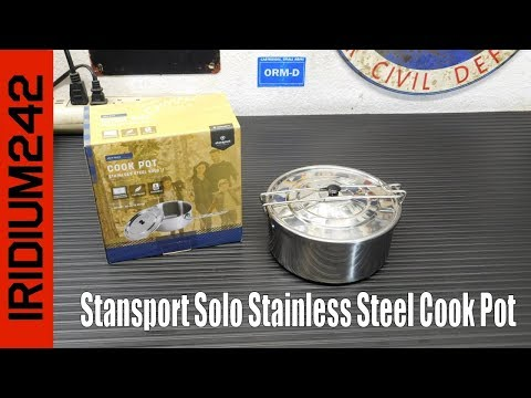 Budget Friendly: Stansport Solo Stainless Steel Cook Pot