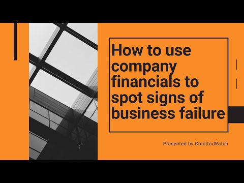How to use company financials to spot signs of business failure