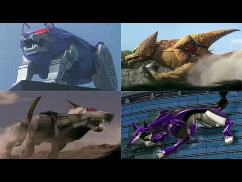 Power Rangers summon the Wolf Zords  Mighty Morphin  RPM  Superheroes Wolves
