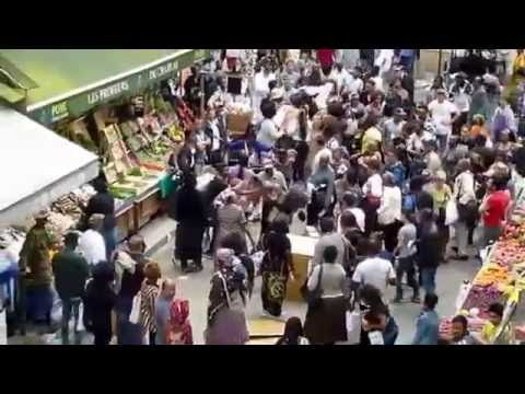 Grosse bagarre dans le marché de Château Rouge à Paris (version complète)