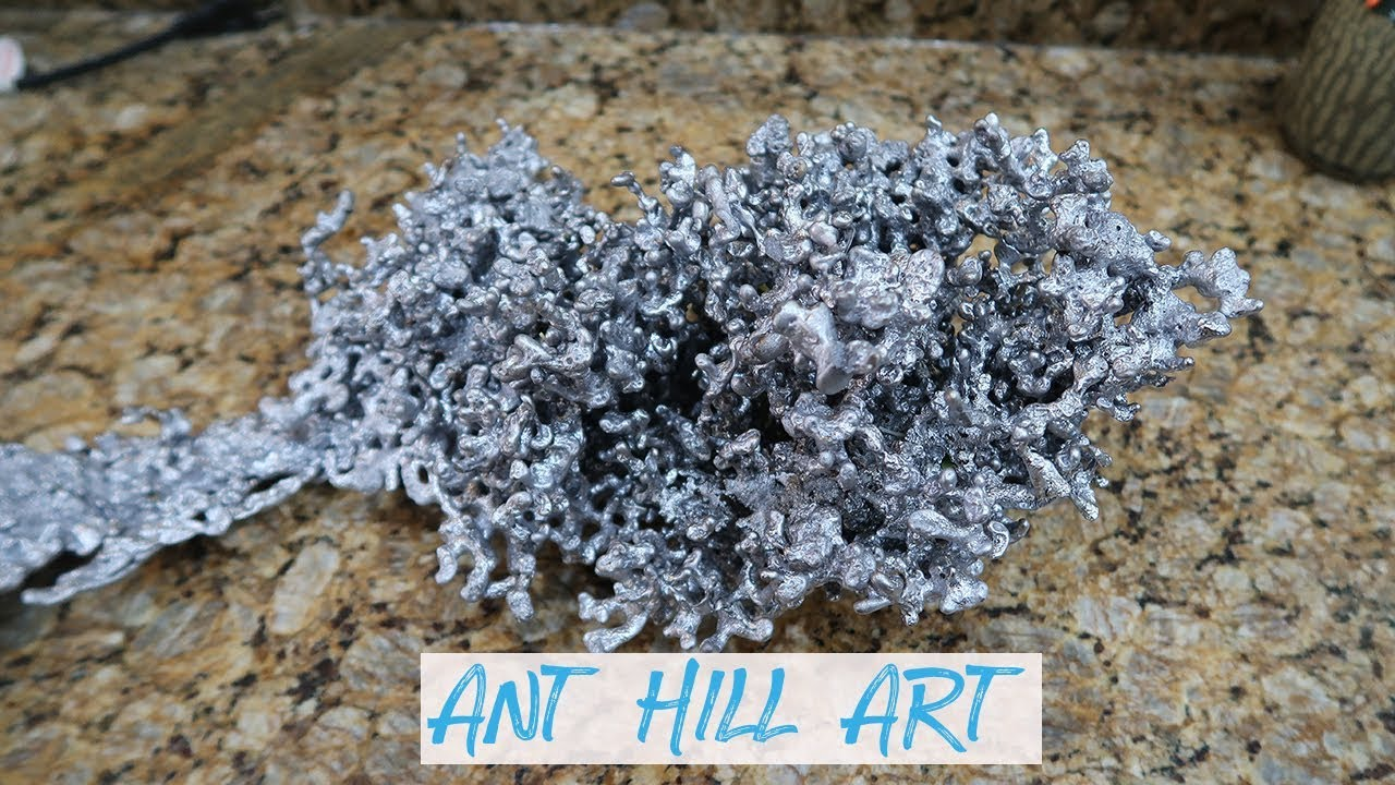 LEAD ANT HILL ART! PORING MELTED LEAD DOWN A HUGE ANT HILL!!