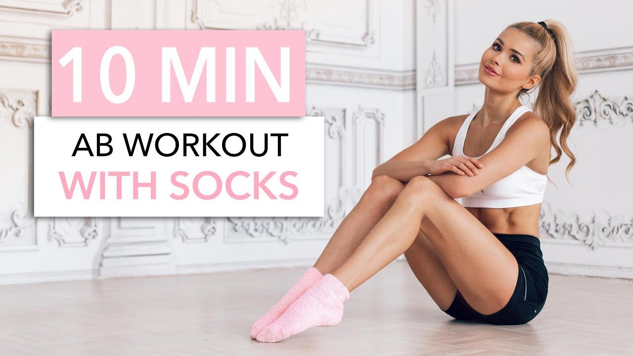 10 MIN SOCKS WORKOUT - Abs out of Steel / Equipment: Socks I Pamela Reif