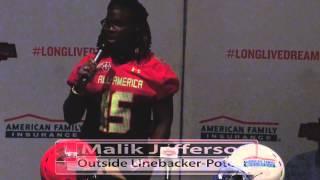 Malik Jefferson: American Family Insurance Selection Tour Jersey Presentation