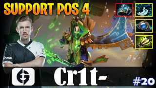 Crit - Rubick Offlane | SUPPORT POS 4 | Dota 2 Pro MMR Gameplay #20