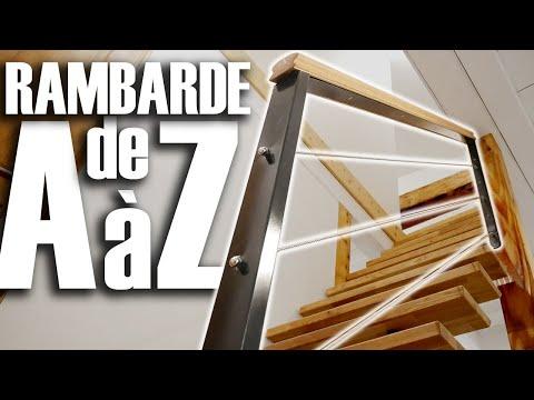 Fabriquer Une Rambarde D'Escalier - Metal Et Bois- DIY // ⓇⒷ