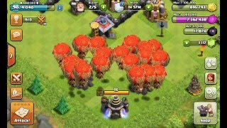 CLASH OF CLANS- BALOON MAX EPIC MOMENT FOR TH9