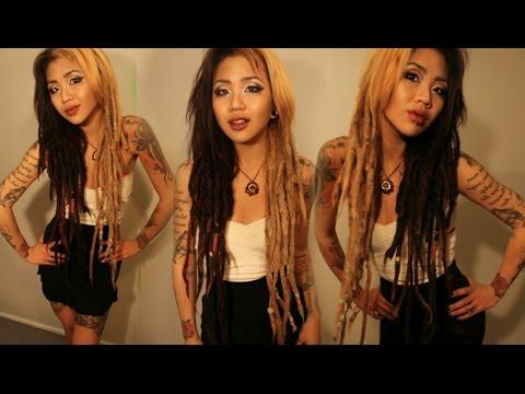 DREADLOCKS Bleaching Amp Dye REAL HAIR YouTube