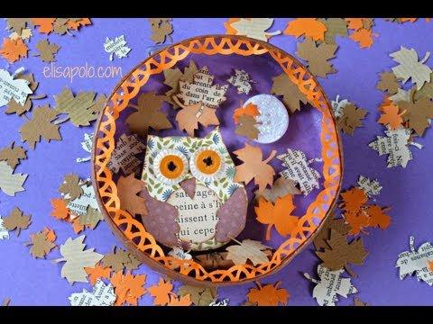 Download video diy scrap owl cute owl b ho scrap - Manualidades para el otono ...