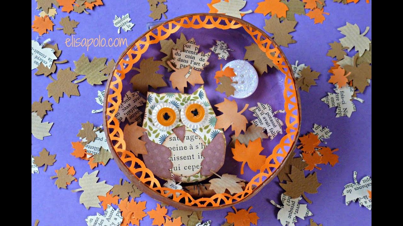 diy scrap owl cute owl bho scrap para el otoo youtube
