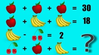 Fruit Math Equation Can You Solve Seconds