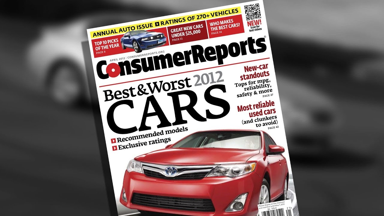 Consumer Reports 2012 Top Pick Cars Consumer Reports Youtube