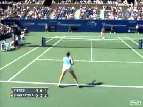 Maria Sharapova vs Mary Pierce 2004 US Open Highlights
