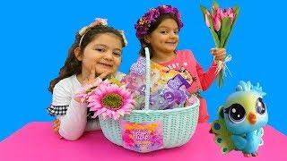 Masal & Öykü opening surprises presents - LPS Littlest Pet Shop