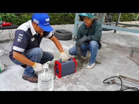 ทดสอบตู้เชื่อมไฟฟ้า KENDE  ป้องกันฝุ่น และ ป้องกันระอองน้ำ