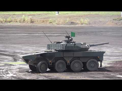 16式機動戦闘車の走行と砲撃まとめ(4K動画)