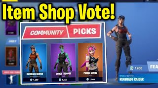 *NEW* ITEM SHOP VOTE FEATURE LEAKED! Fortnite Skin Voting Maybe? (all info so far + concept)