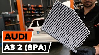How to change pollen filter / cabin filter on AUDI A3 2 (8PA) [TUTORIAL AUTODOC]