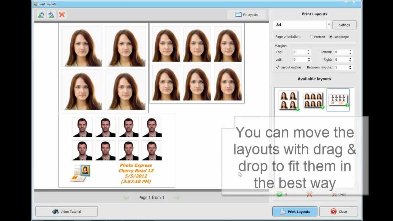 How To Print Id Photos Smartly Working With Print Layouts Youtube