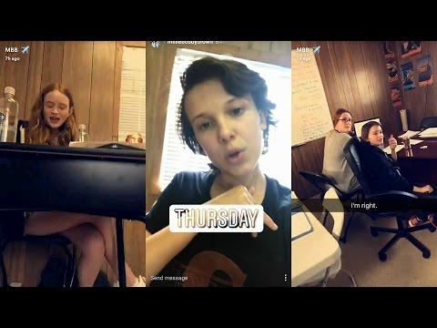 Millie Bobby Brown ► Snapchat Story ◄ 11 May  w Noah Schnapp & Sadie Sink