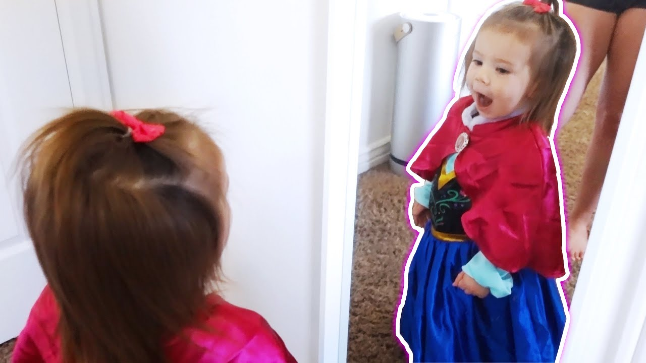 Micah Becomes a Disney Princess for the First Time *cuteness overload*