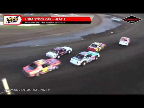 Stock Car Heats - Rapid Speedway - 6/28/19