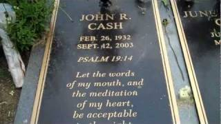 Johnny Cash and June Carter Cash burial site.Mother Maybelle Carter and other stars.