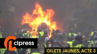 Gilets jaunes Acte3 : guérilla urbaine et chaos autour des Champs-Elysées (1er décembre 2018, Paris) thumbnail