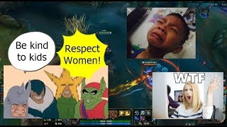 LoL URF na! Team GSPH Vs Kids and GIRLS!? (Live Record)