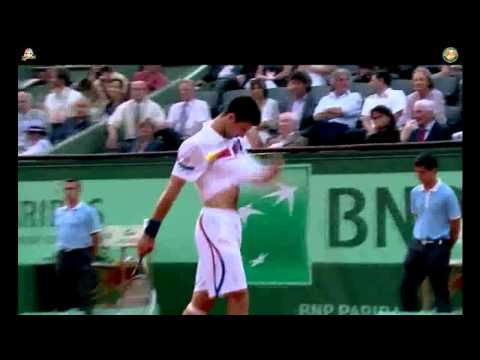 Roland Garros French Open 2011 Semifinal Djokovic vs Federer Match Point Tiebreak