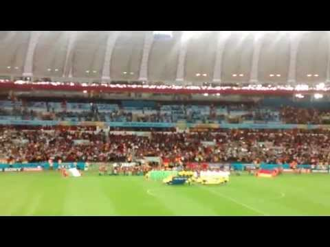 Anthems of Germany and Algeria Live in World Cup !