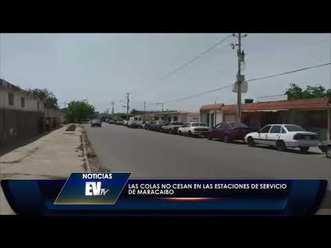 Largas colas desesperan a los zulianos para abastecer de gasolina - Noticias EVTV 05/17/2019