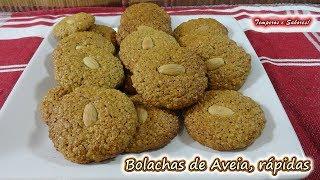 BOLACHAS DE AVEIA Rápidas, muito fácil de fazer e deliciosas
