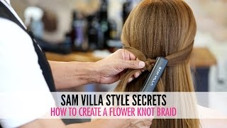 How To Create a Flower Knot Braid