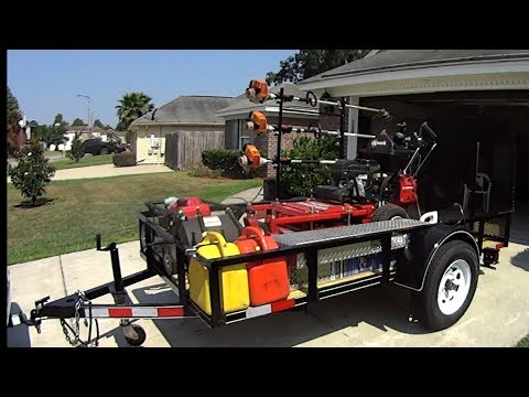 Efficient & Low Cost Lawn Service Trailer Set Up #SideHustle
