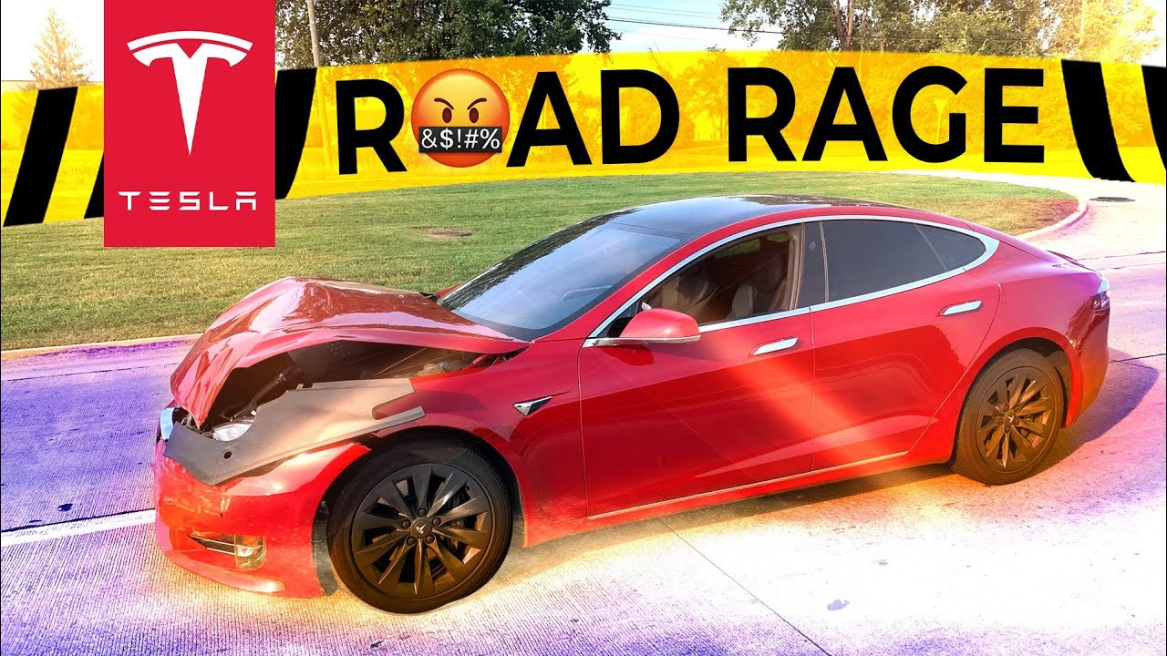 TESLA ATTACKED BY ROAD RAGE AND ALMOST SENT TO JAIL FOR SOMETHING HE DIDN'T DO | TESLACAM STORY