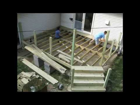 How to Build a Deck - Time Lapse movie project - every 10 min