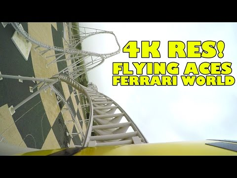 Flying Aces Roller Coaster INCREDIBLE 4K Ultra HD POV Footage! Ferrari World Abu Dhabi UAE