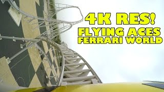 Flying Aces Roller Coaster INCREDIBLE 4K Ultra HD POV Footage! Ferrari World Abu Dhabi UAE
