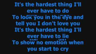 the hardest thing 98 degrees lyrics