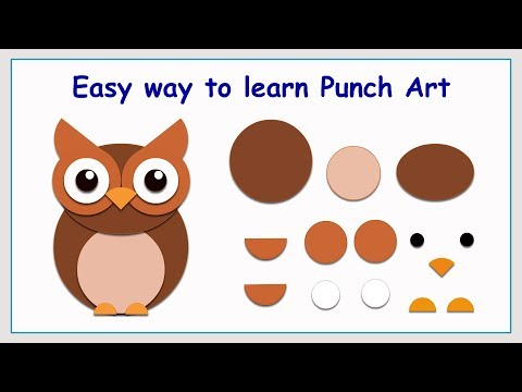 Punch Art Owl | Paper Crafting | Stamping | Card making | Scrap booking