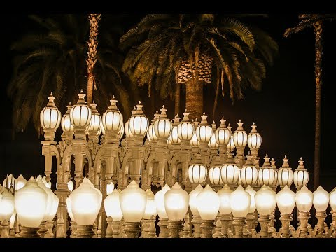 "360 time-lapse of Chris Burden's ""Urban Lights"" 