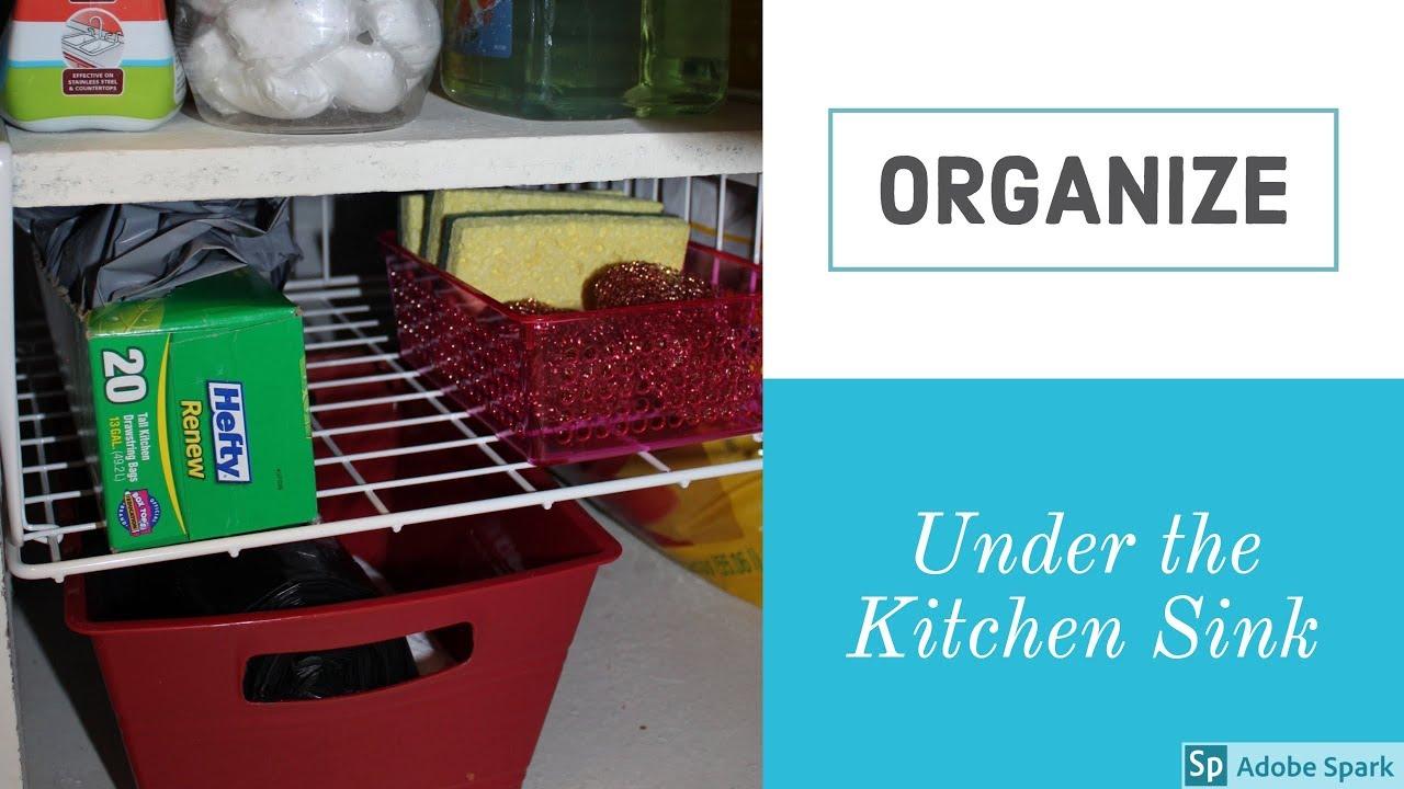 Diy Organizing Under Kitchen Sink Storage Organization Moved
