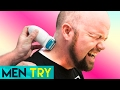 Men Try Painful Body Hair Removal with an Epilator